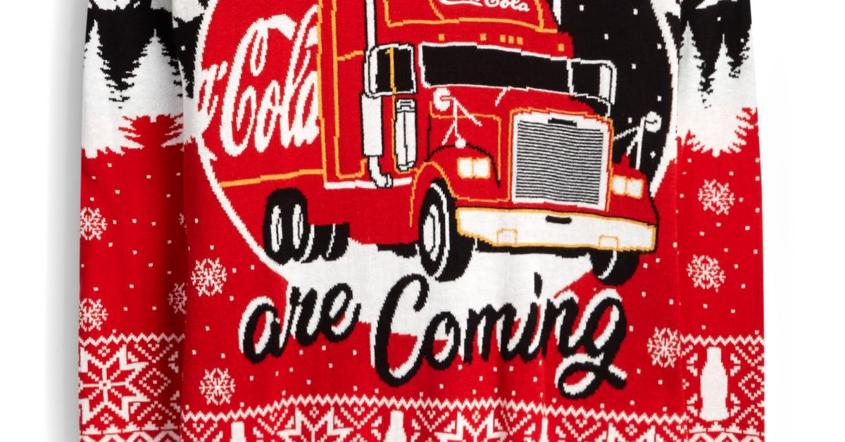Red Coca Cola Holidays Are Coming Fair Isle Jumper Jumpers