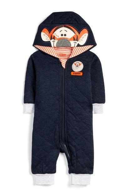Pijama-macacão capuz Tigger menino bebé índigo