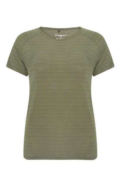 Grünes Sport-T-Shirt