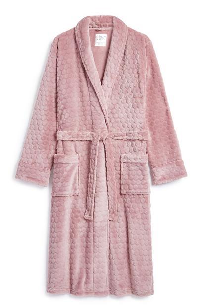 Embossed Pink Robe