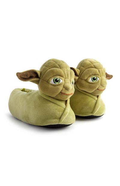 Groene Yoda-pantoffels