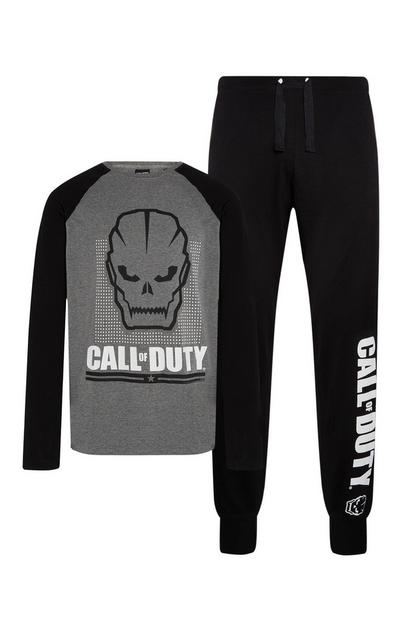 Conjunto de pijama de 2 piezas en color gris de «Call of Duty»