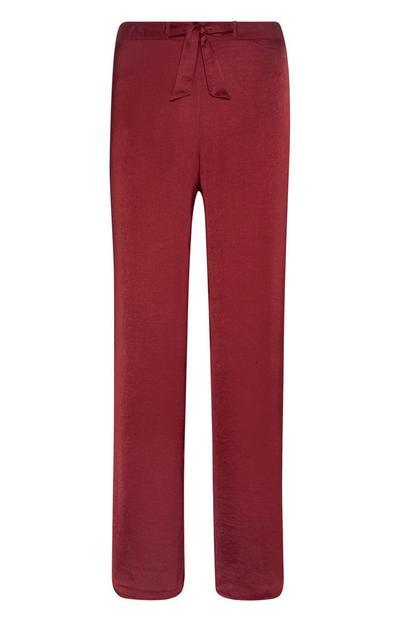 Leggings cetim vermelho