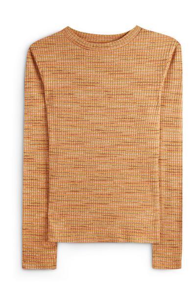 Blusa color mostaza con textura