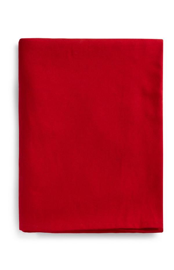Rote Weihnachtstischdecke