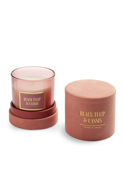 Black Tulip And Cassis Scented Candle