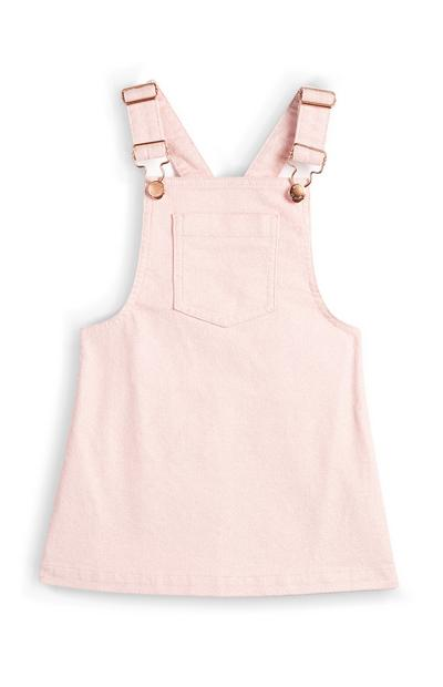 Younger Girl Pink Corduroy Pinafore Dress