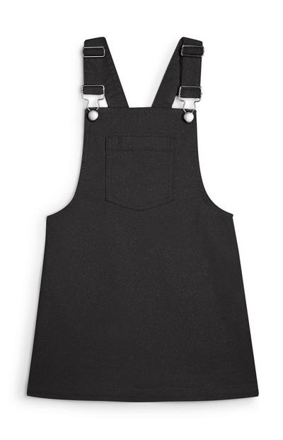 Younger Girl Gray Overall Dress