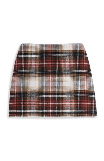 Minifalda a cuadros roja