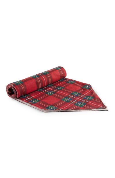 Caminho de mesa padrão tartan