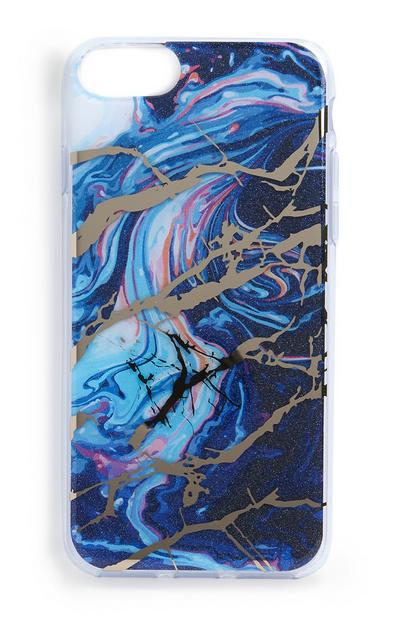 Carcasa para móvil azul con estampado abstracto