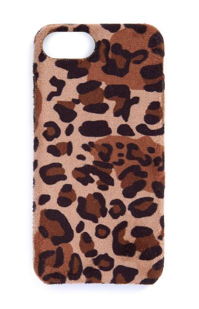 Capa telemóvel estampado leopardo