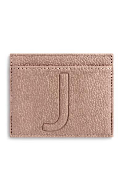 Ovitek za kartice s črko J
