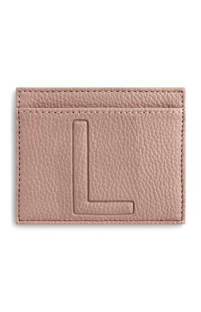 Ovitek za kartice s črko L