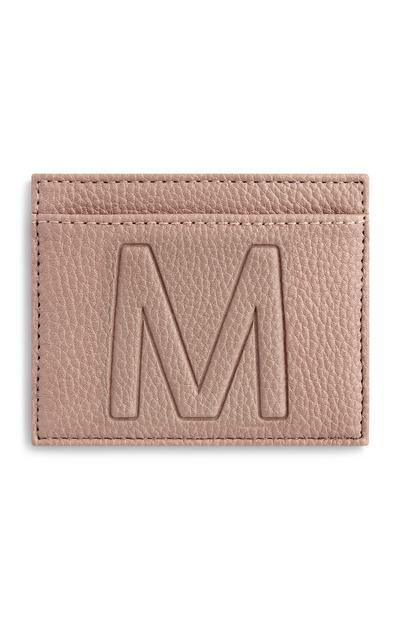 Kaarthouder met letter M