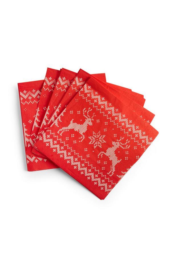 Serviettes de Noël de soirée en papier