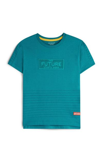Younger Boy Teal T-Shirt