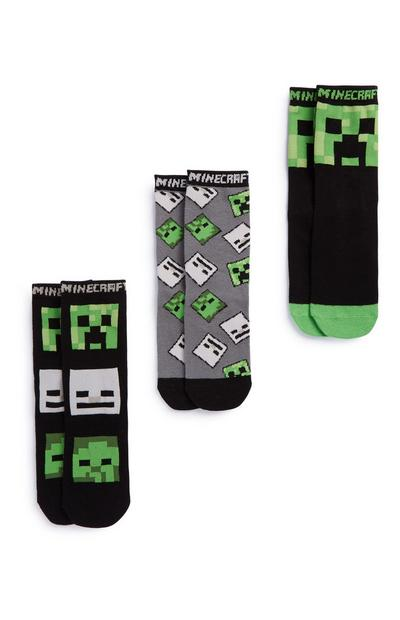 Pack 3 pares meias Minecraft