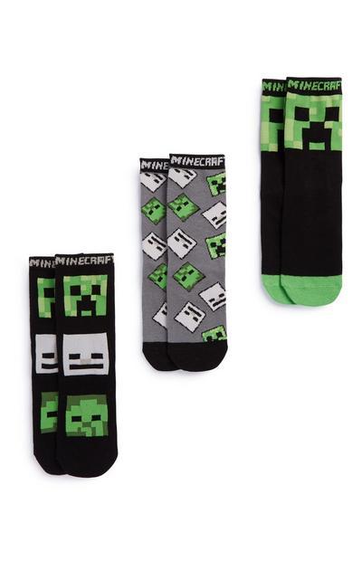 Minecraft-sokken, 3 paar