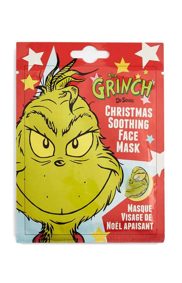 Red The Grinch Christmas Sooth Face Mask