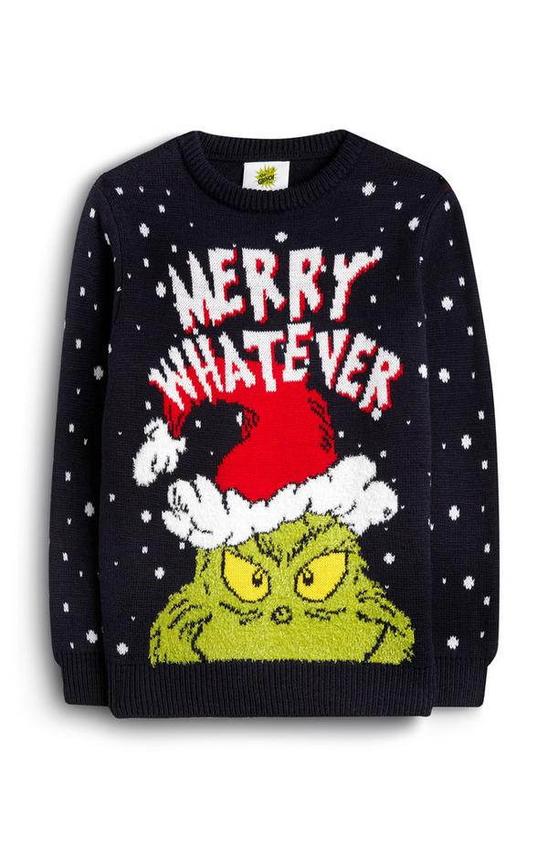 Older Boy The Grinch Merry Whatever Christmas Jumper