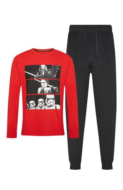 Pijama Star Wars preto e vermelho