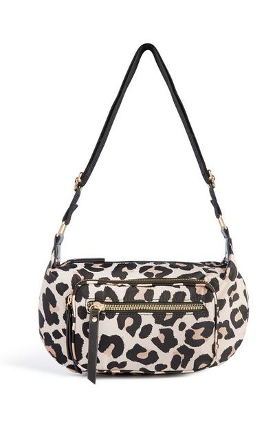 Snake Print Shoulder Bag
