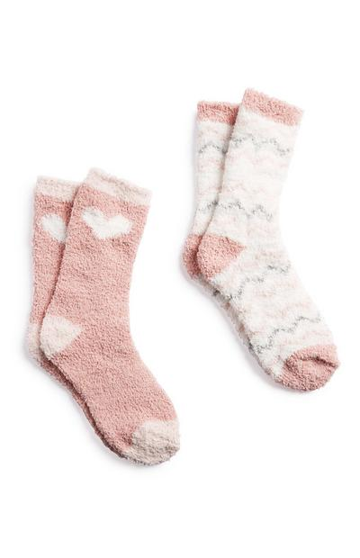 Calcetines para casa rosas