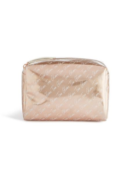 Gold Too Glam Makeup Bag