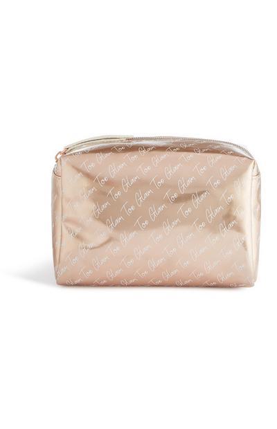 Bolsa de maquillaje dorada «Too Glam»
