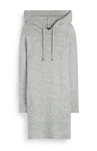 Grey Hooded Dress