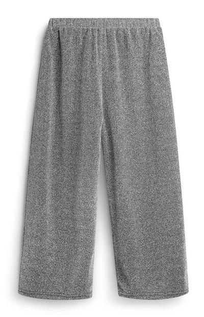 Older Girl Silver Sparkly Culottes