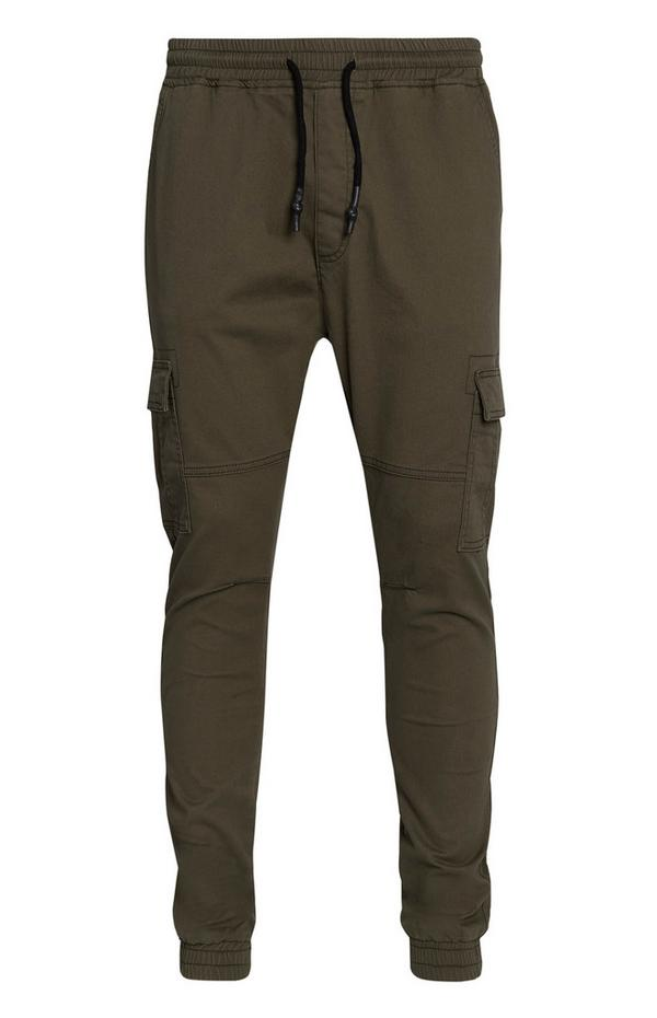 Cuffed Olive Cargo Pants