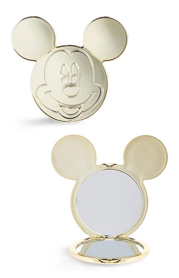 Goudkleurig Mickey Mouse-zakspiegeltje
