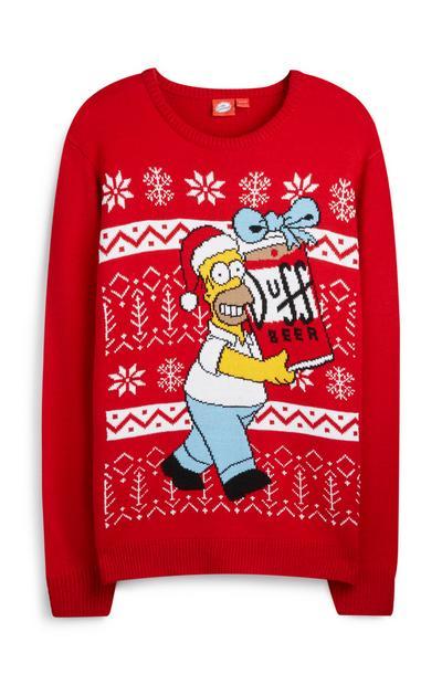 """""""Homer Simpson"""" Weihnachtspullover"""