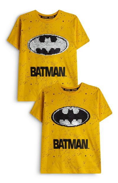 T-shirt Batman à sequins réversibles garçon