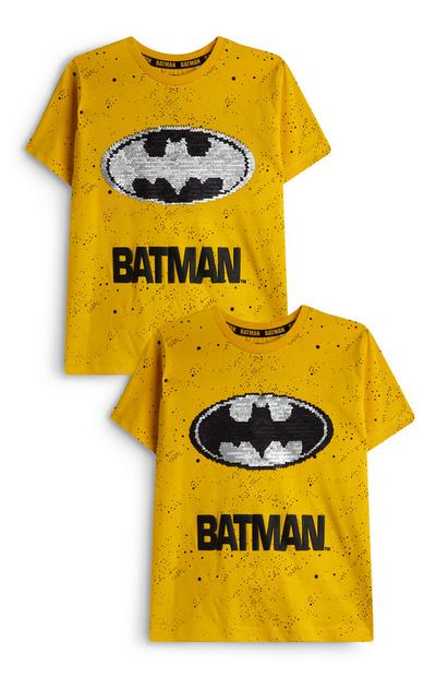 T-shirt Batman met pailletten, jongens