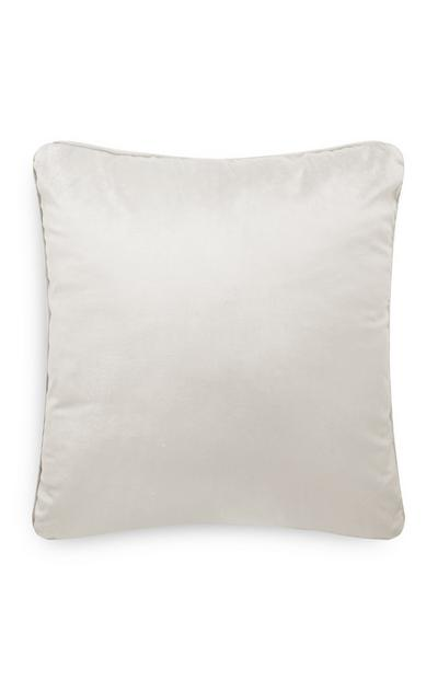 Ecru Velvet Cushion Cover
