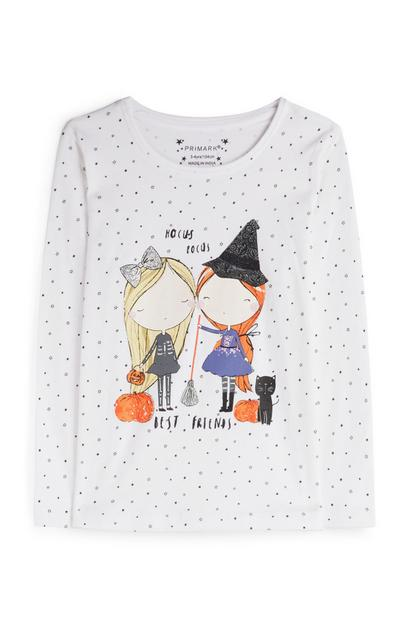 T-shirt Halloween fille