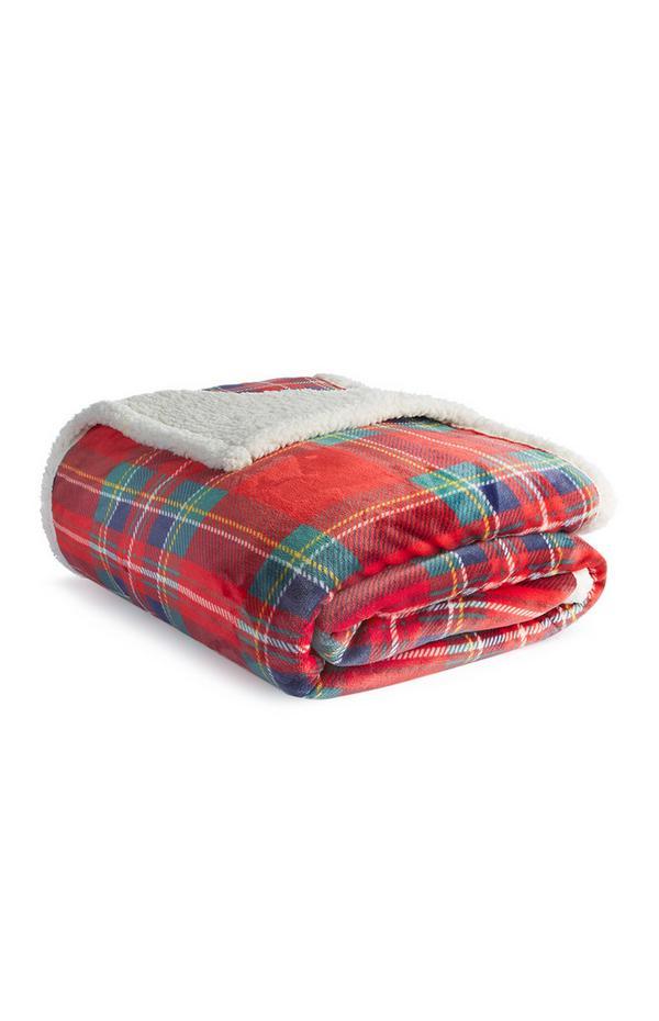 Large Check Fleece Throw
