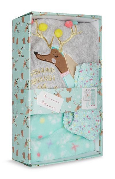 Coffret-cadeau avec pyjama renne