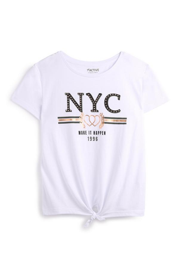Older Girl White NYC T-Shirt