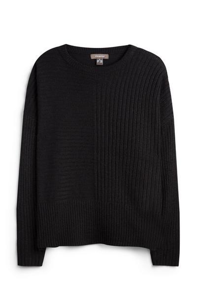 Črna majica z netopirjastimi rokavi