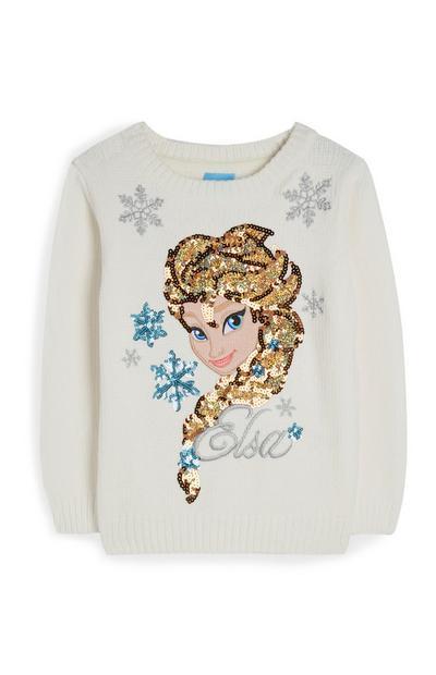 """""""Frozen Elsa"""" Strickpullover mit Pailletten (kleine Mädchen)"""