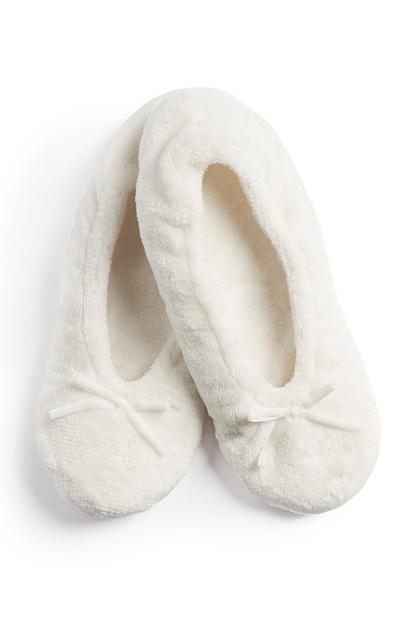 White Soft Slipper Socks