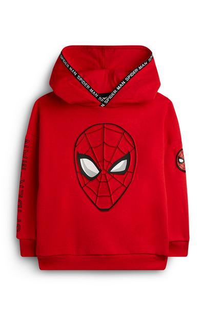 Younger Boy Red Spiderman Hoodie