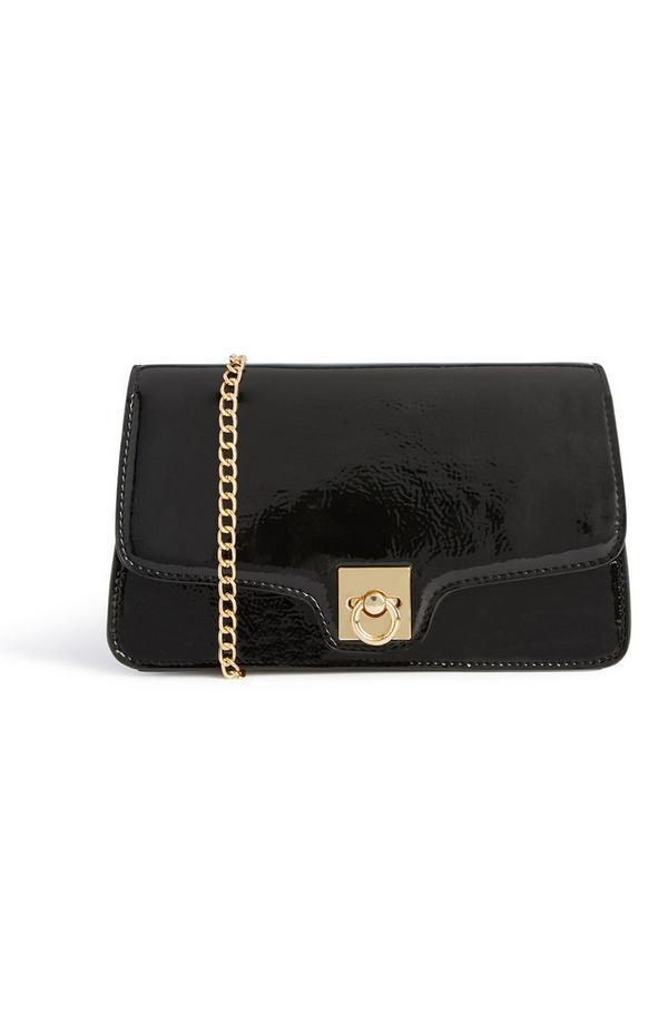 Zwarte glanzende tas