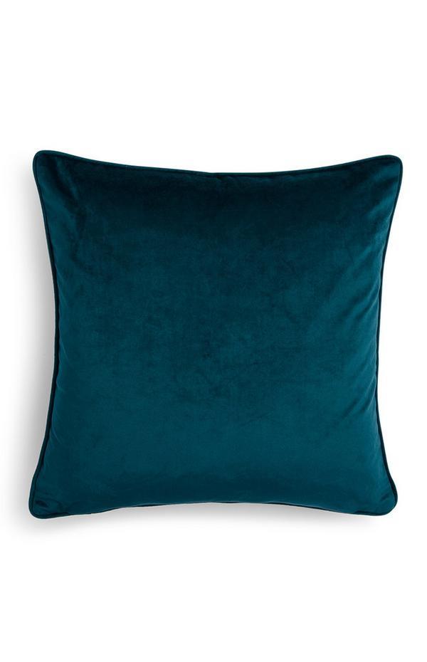 Teal Velvet Cushion Cover