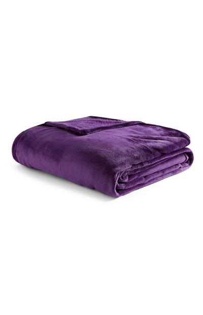 Extra Large Supersoft Plain Purple Throw