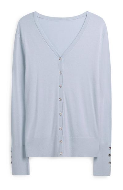 Blue Button Up Cardigan